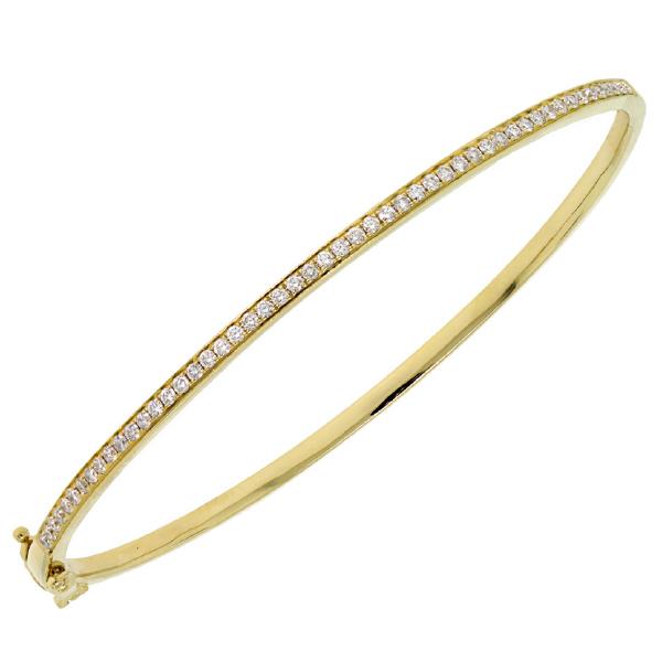 0.59ct 14k Yellow Gold Diamond Bangle