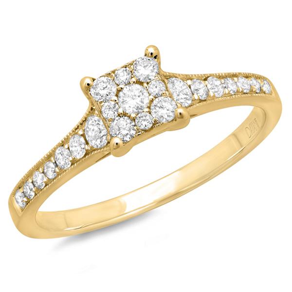 0.40ct 14k Yellow Gold Diamond Lady's Ring