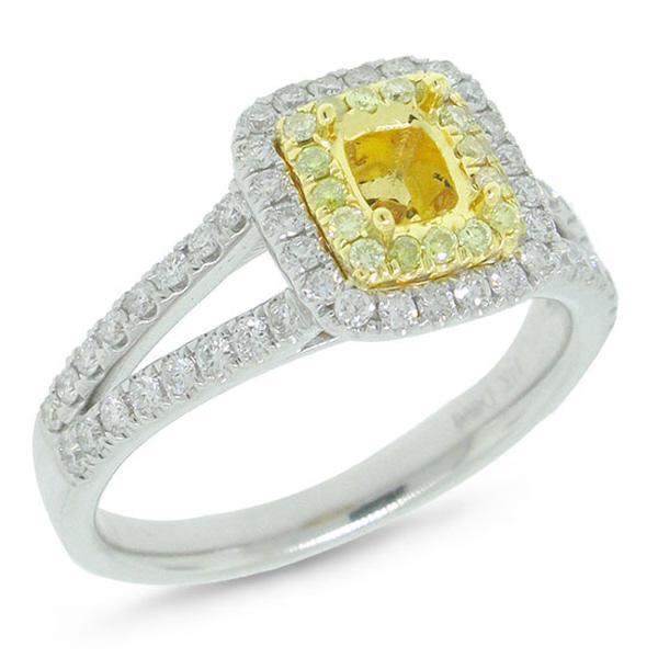 0.57ct 14k Two-tone Gold Diamond Semi-mount Ring