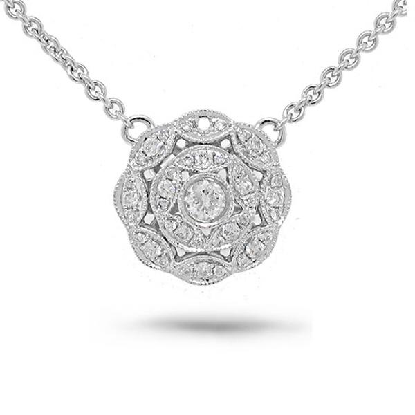 0.38ct 14k White Gold Diamond Necklace