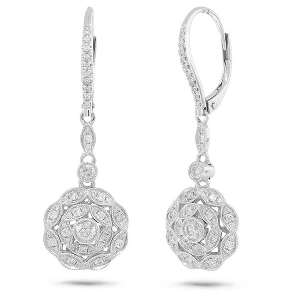 0.72ct 14k White Gold Diamond Earrings