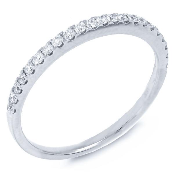 0.22ct 14k White Gold Diamond Lady's Band