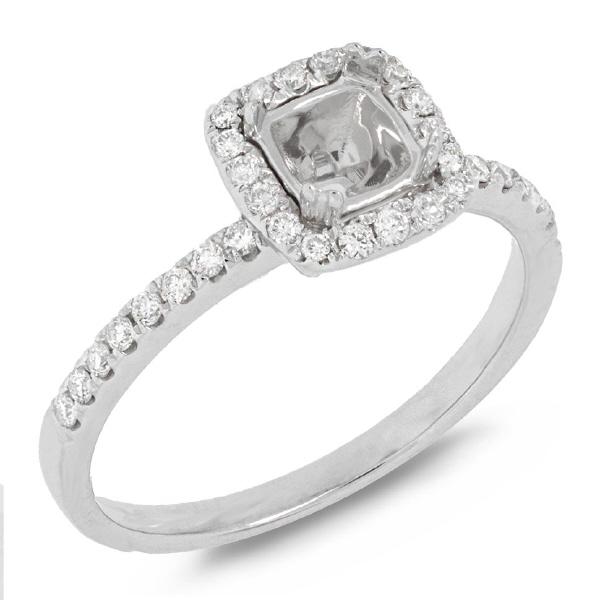 0.25ct 14k White Gold Diamond Semi-mount Ring
