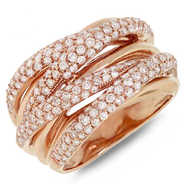 1.60ct 14k Rose Gold Rose Gold Diamond Bridge Ring