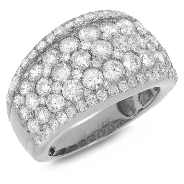3.40ct 14k White Gold Diamond Lady's Ring