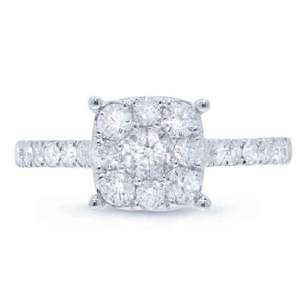 0.87ct 14k White Gold Round Brilliant Diamond Lady's Ring