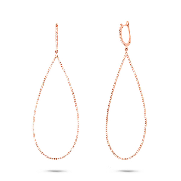 0.85ct 14k Rose Gold Diamond Earrings