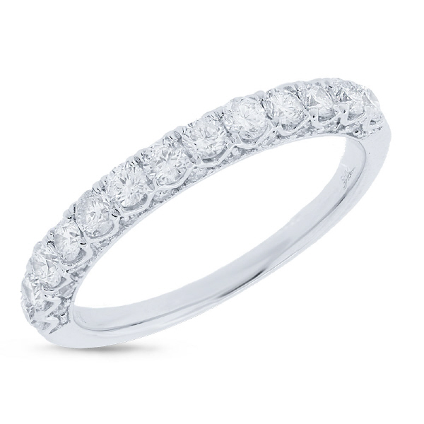 0.72ct 14k White Gold Diamond Lady's Band