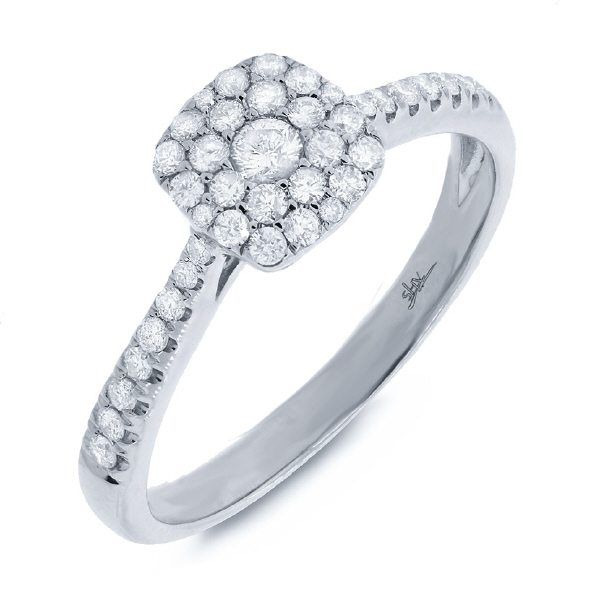 0.40ct 14k White Gold Diamond Cluster Lady's Ring