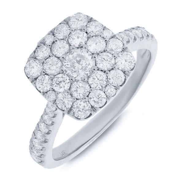 1.35ct 14k White Gold Diamond Lady's Ring