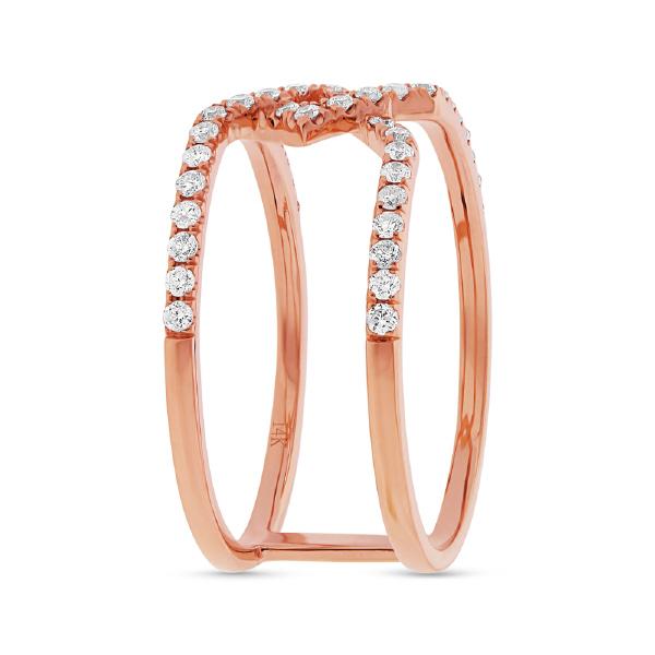 0.40ct 14k Rose Gold Diamond Lady's Ring