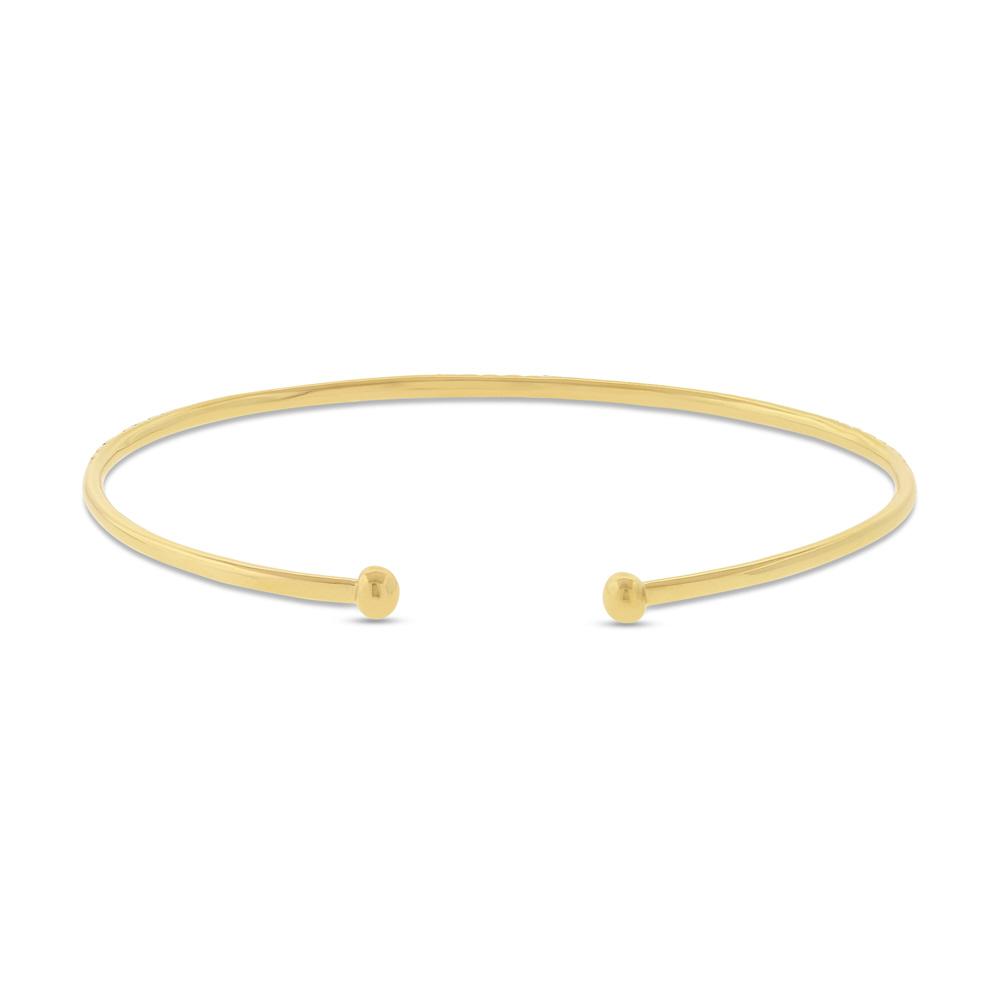 0.53ct 14k Yellow Gold Diamond Bangle