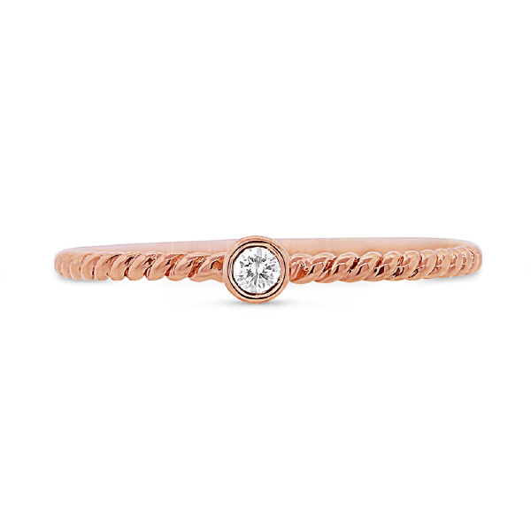 0.05ct 14k Rose Gold Diamond Lady's Ring