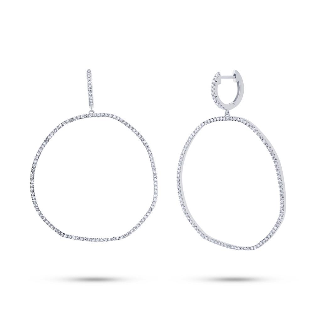 0.71ct 14k White Gold Diamond Earrings