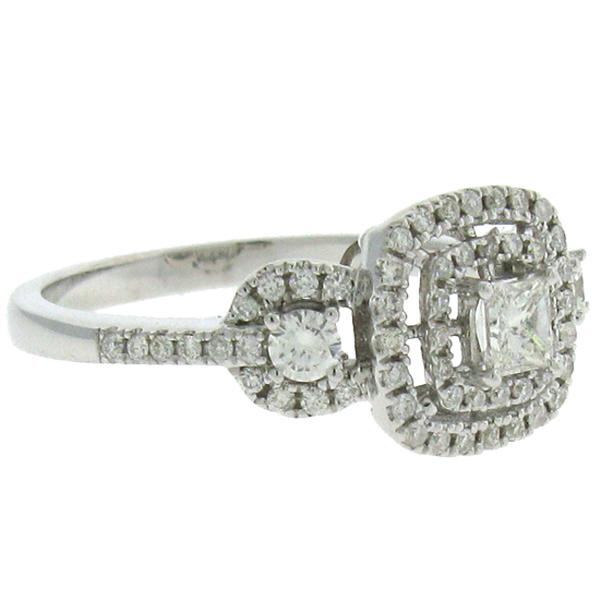 0.67ct 14k White Gold Princess Cut Diamond Engagement Ring
