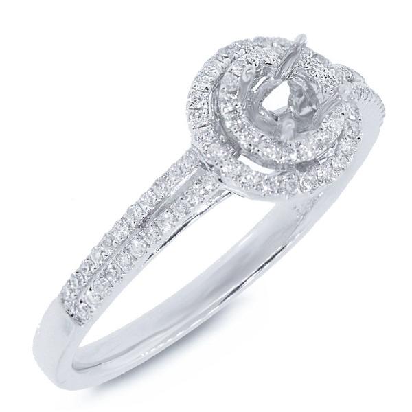 0.27ct 14k White Gold Diamond Semi-mount Ring