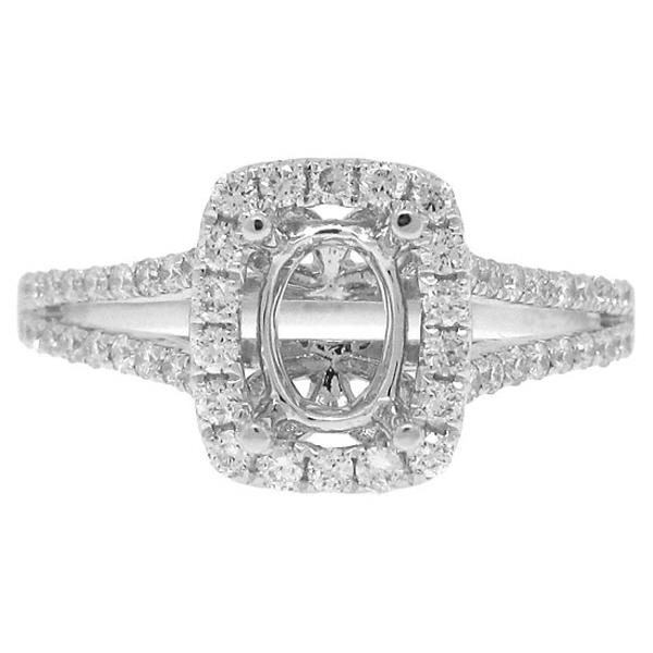 0.49ct 18k White Gold Diamond Semi-mount Ring
