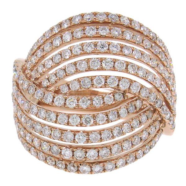 1.76ct 14k Rose Gold Diamond Lady's Ring