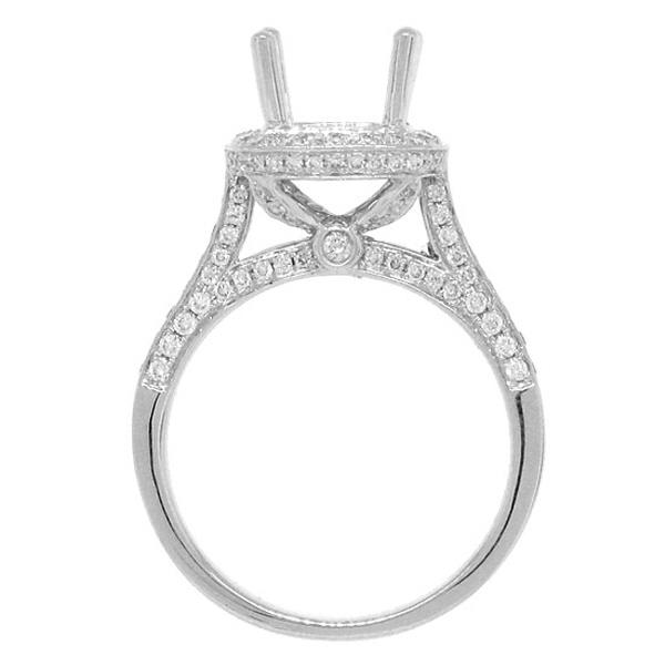 0.81ct 18k White Gold Diamond Semi-mount Ring