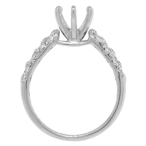0.29ct-vs 18k White Gold Diamond Semi-mount Ring