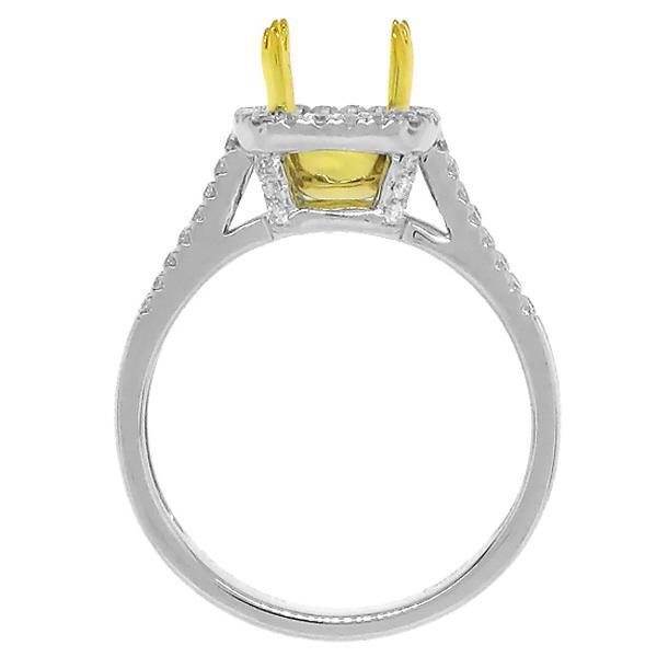 0.40ct 14k Two-tone Gold Diamond Semi-mount Ring