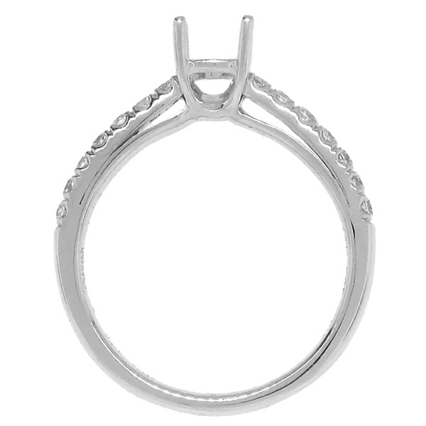 0.30ct 14k White Gold Diamond Semi-mount Ring