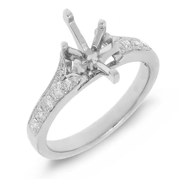 0.36ct 18k White Gold Diamond Semi-mount Ring