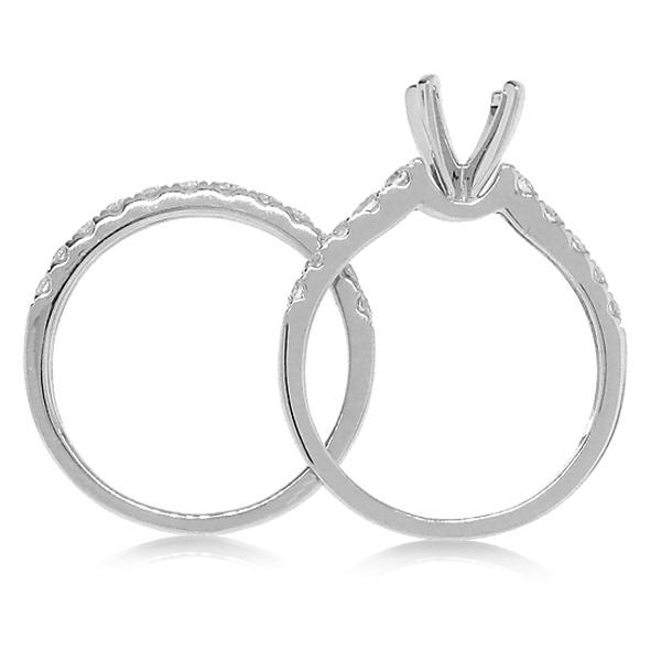 0.79ct 14k White Gold Diamond Semi-mount Ring 2-pc