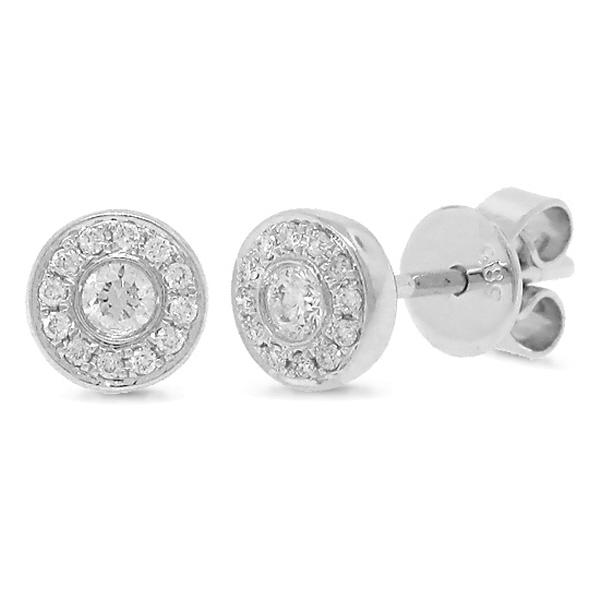0.15ct 14k White Gold Diamond Stud Earrings