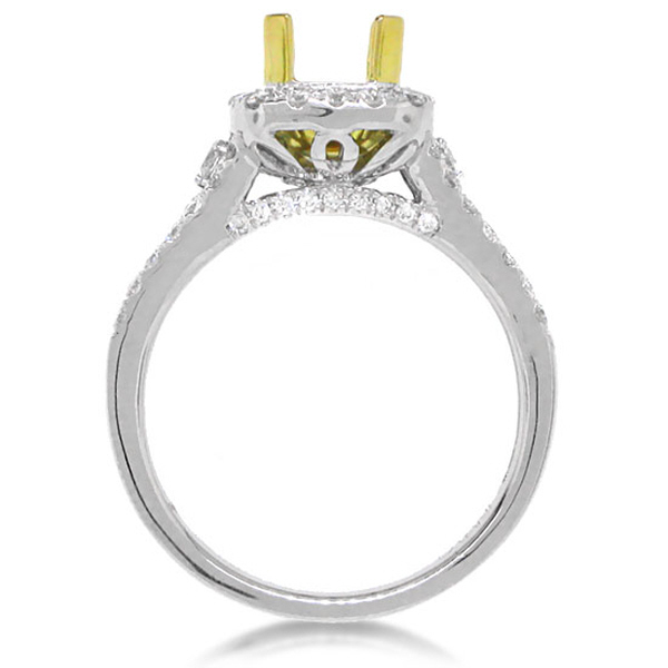 0.70ct 18k Two-tone Gold Diamond Semi-mount Ring