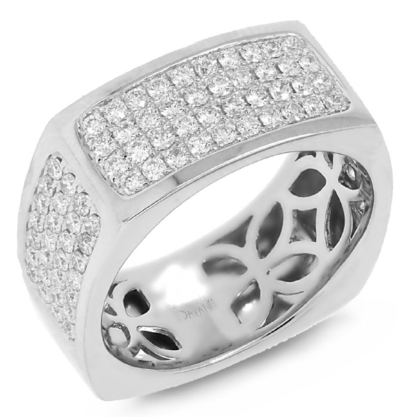 1.62ct 14k White Gold Diamond Men's Ring
