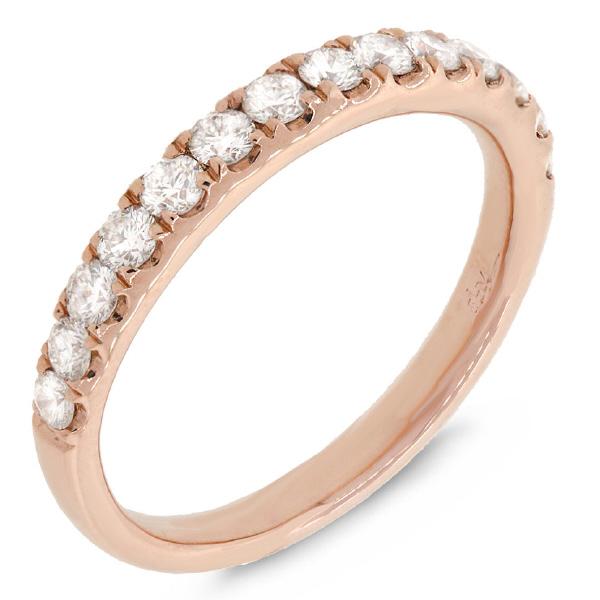 0.54ct 14k Rose Gold Diamond Lady's Band