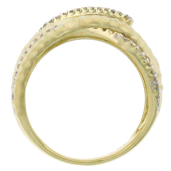0.30ct 14k Yellow Gold Diamond Bridge Ring