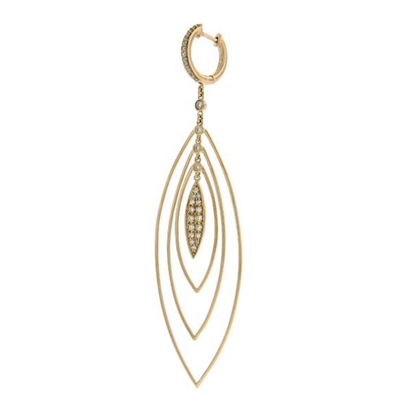 0.65ct 14k Rose Gold Diamond Earrings