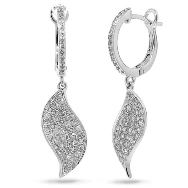 0.67ct 14k White Gold Diamond Earrings