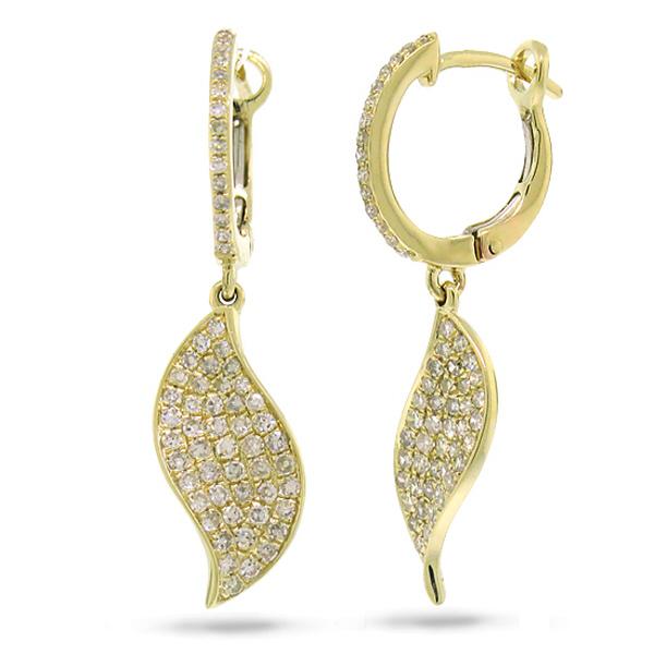 0.67ct 14k Yellow Gold Diamond Earrings
