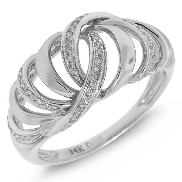 0.17ct 14k White Gold Diamond Lady's Ring