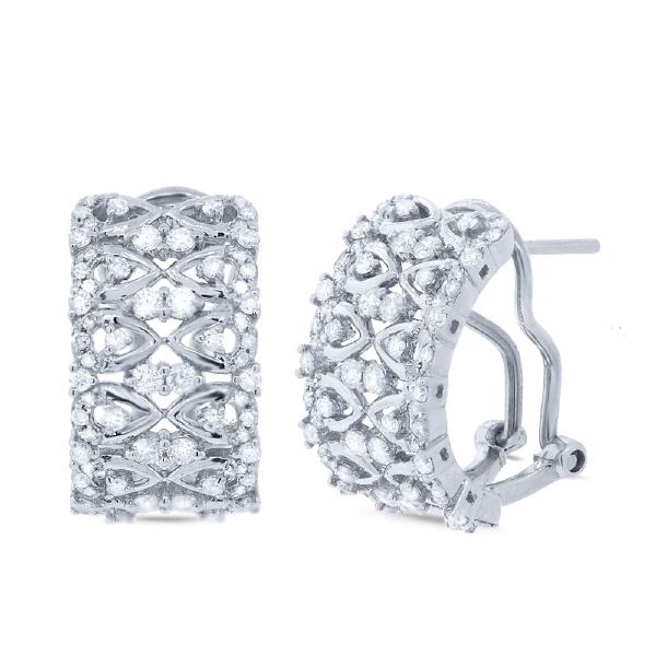 1.03ct 14k White Gold Diamond Earrings
