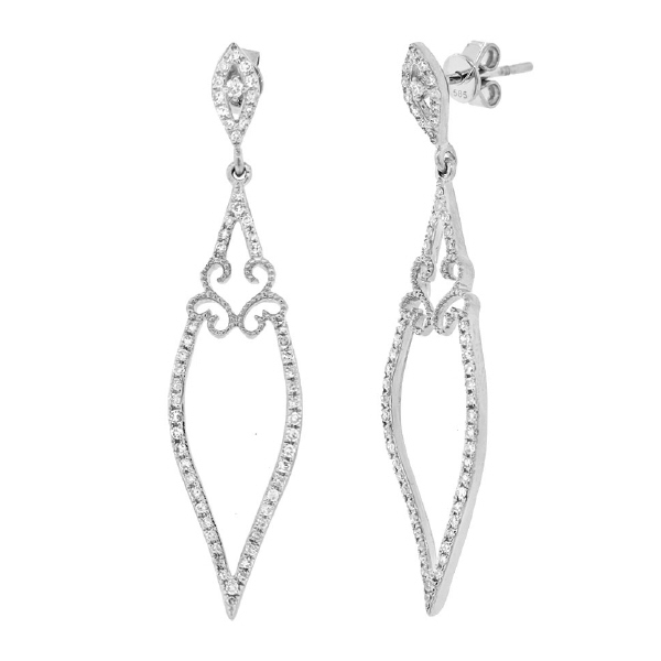 0.44ct 14k White Gold Diamond Earrings