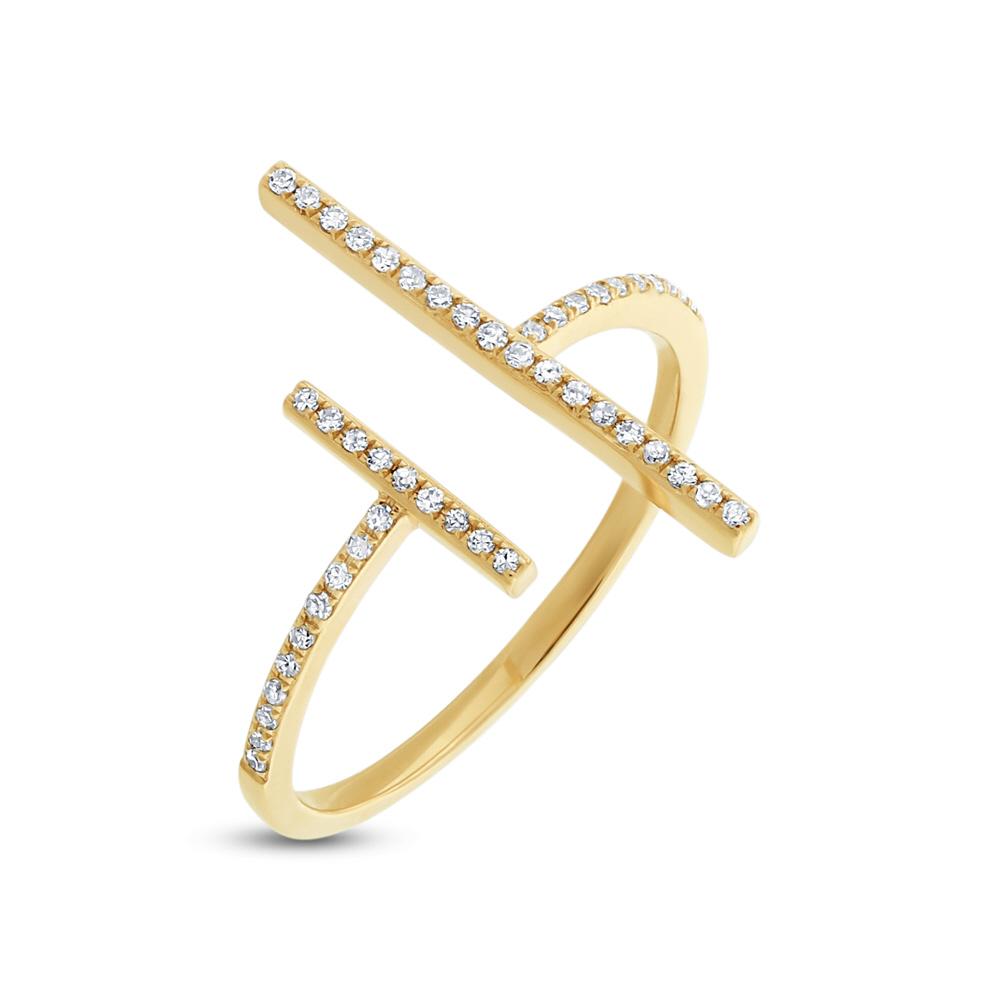 0.14ct 14k Yellow Gold Diamond Lady's Ring