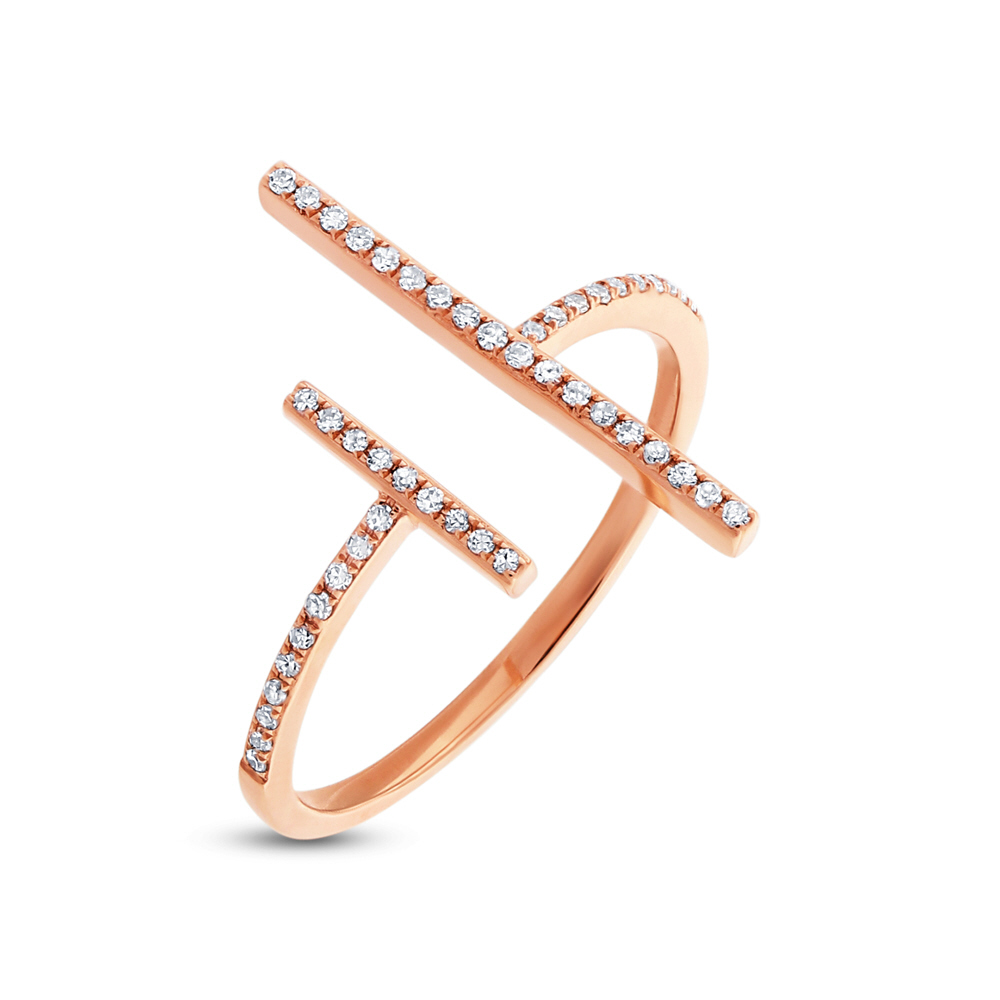 0.14ct 14k Rose Gold Diamond Lady's Ring