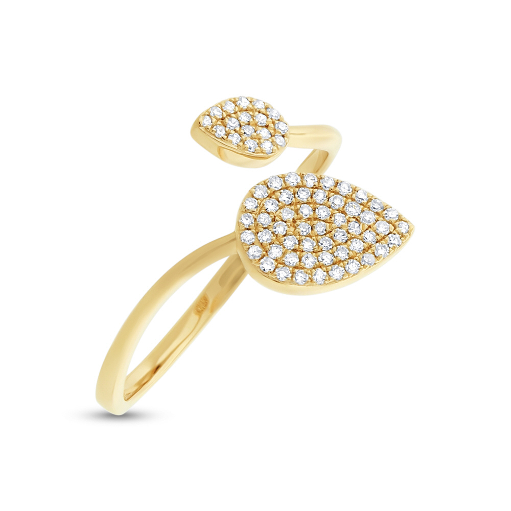 0.20ct 14k Yellow Gold Diamond Pave Lady's Ring