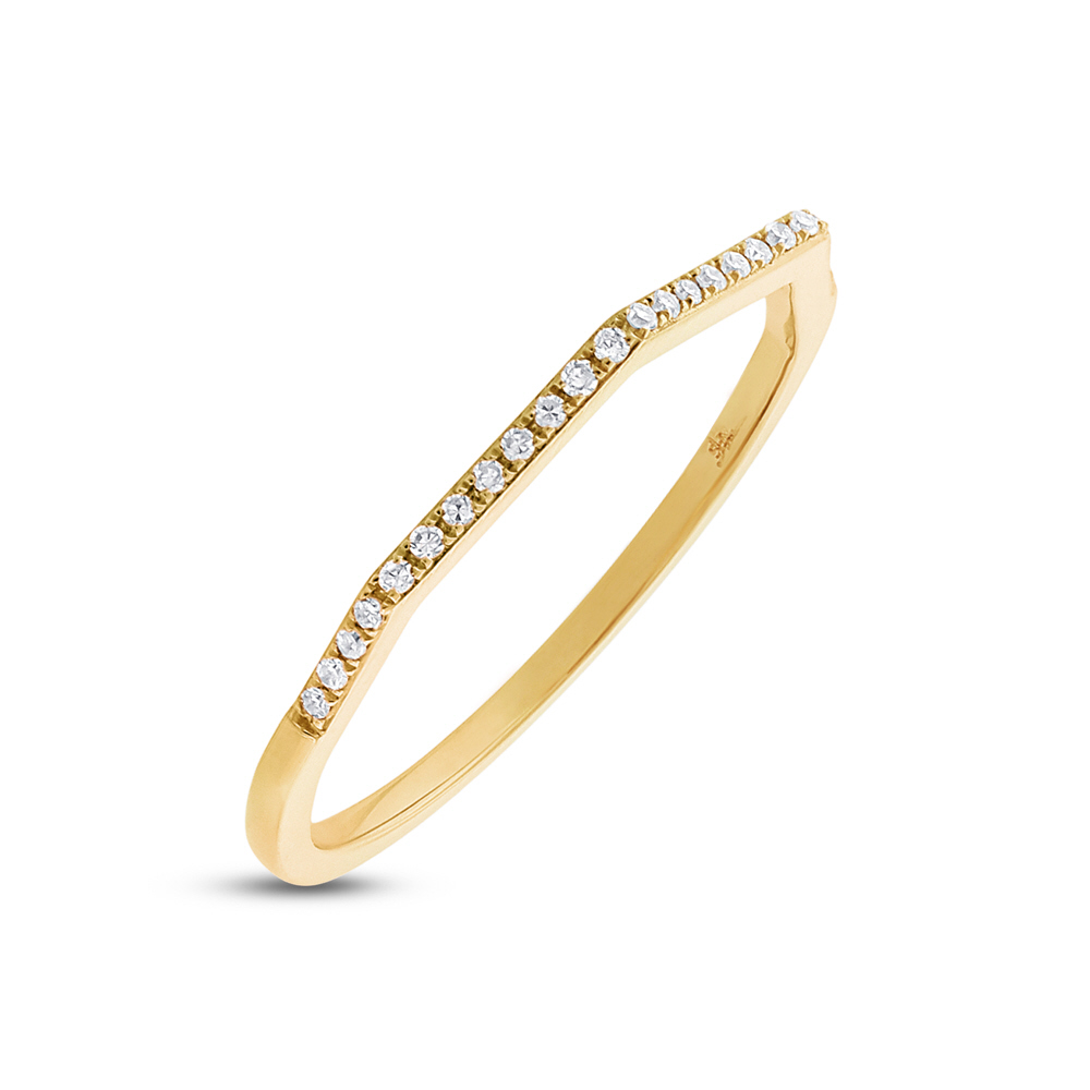 0.07ct 14k Yellow Gold Diamond Lady's Ring