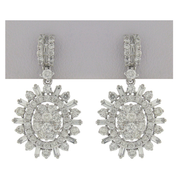 1.90ct 18k White Gold Diamond Earrings
