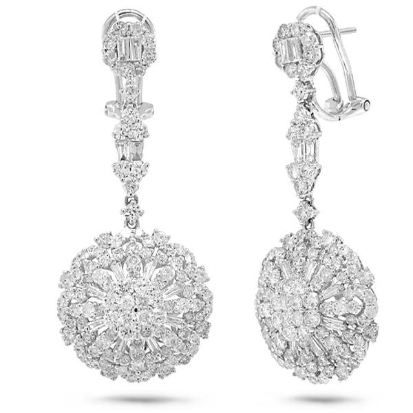 4.56ct 18k White Gold Diamond Earrings