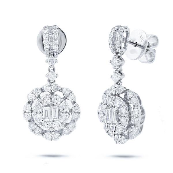 2.09ct 18k White Gold Diamond Earrings
