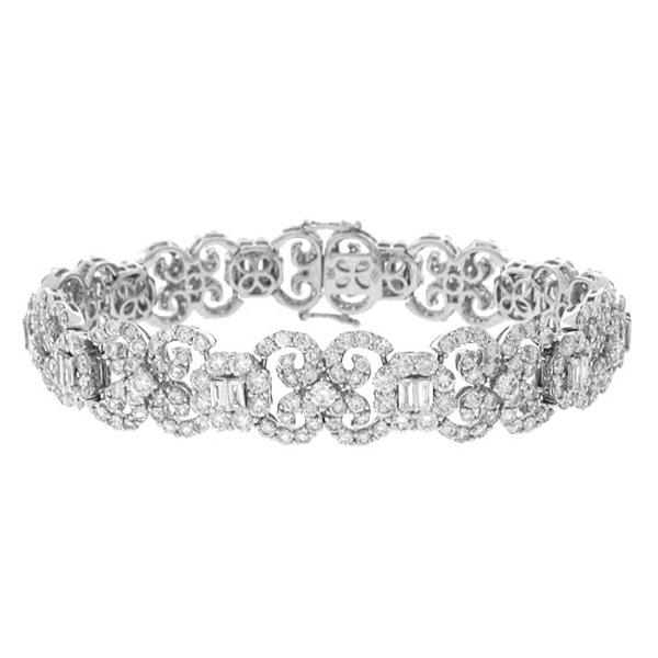 10.02ct 18k White Gold Diamond Lady's Bracelet