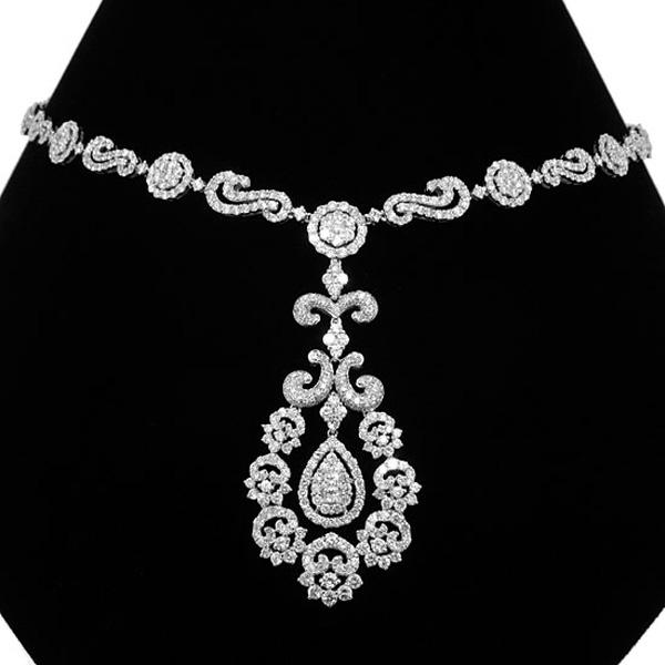 14.29ct 18k White Gold Diamond Necklace