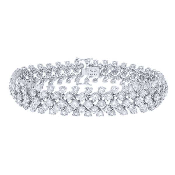 13.94ct 18k White Gold Diamond Lady's Bracelet