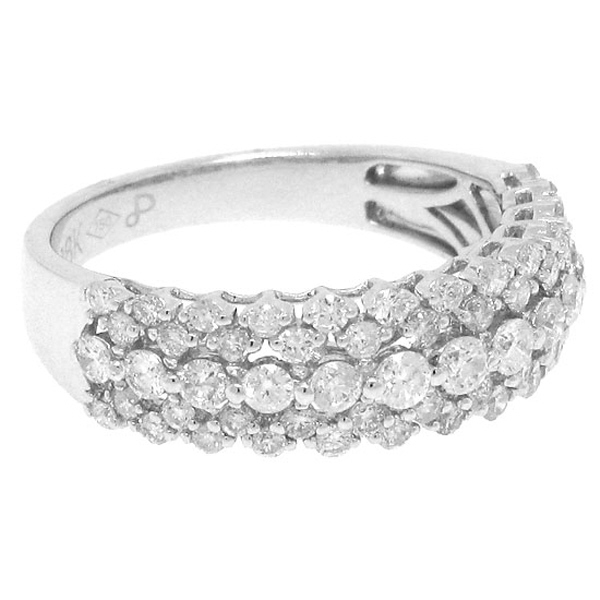 0.98ct 18k White Gold Diamond Lady's Ring